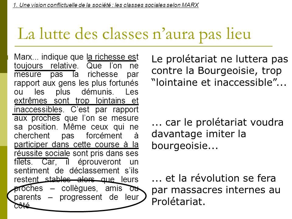 La lutte des classes n'aura pas lieu