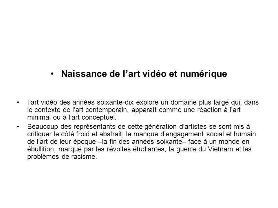 Naissance de l'art vidéo et numérique