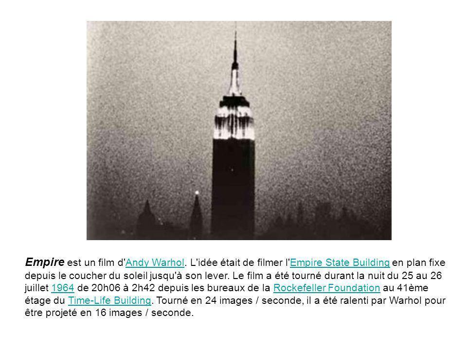 Empire est un film d Andy Warhol