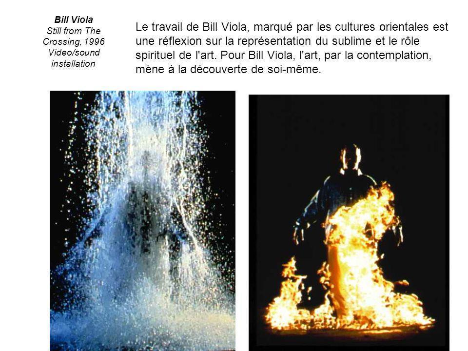Bill Viola Still from The Crossing, 1996 Video/sound installation