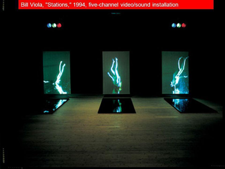 Bill Viola, Stations, 1994, five-channel video/sound installation