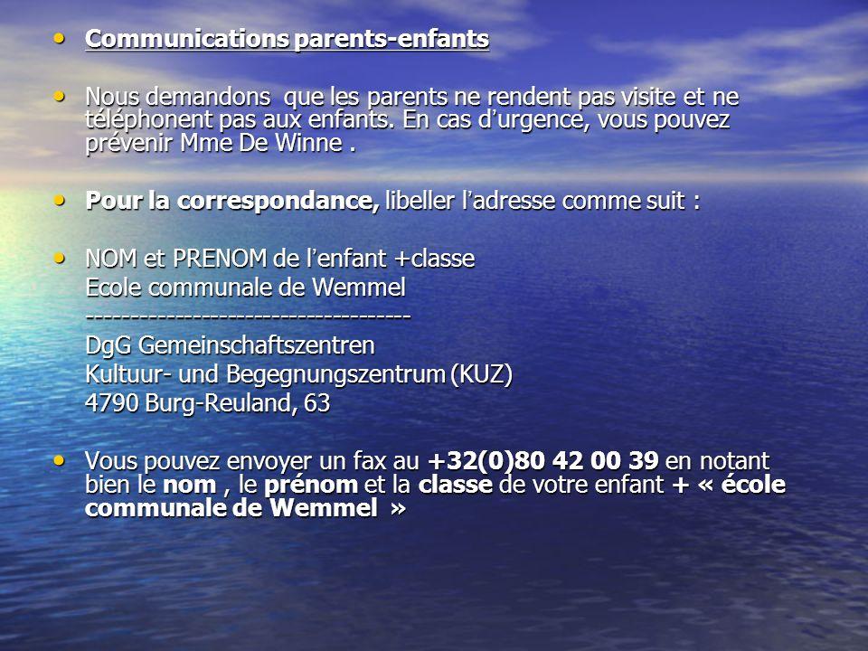 Communications parents-enfants