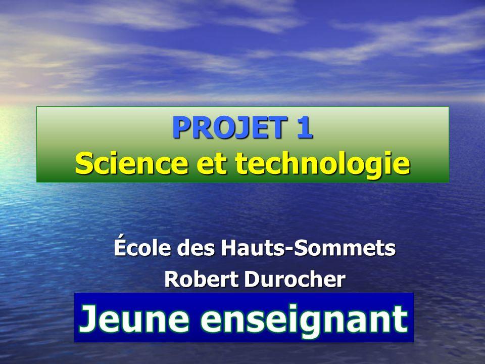 PROJET 1 Science et technologie