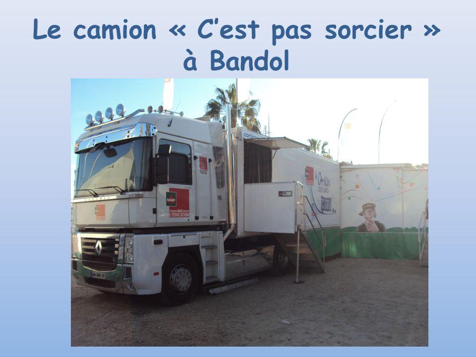 Le camion « C'est pas sorcier » à Bandol