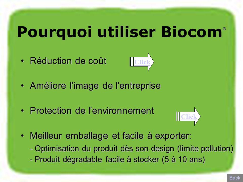 Pourquoi utiliser Biocom
