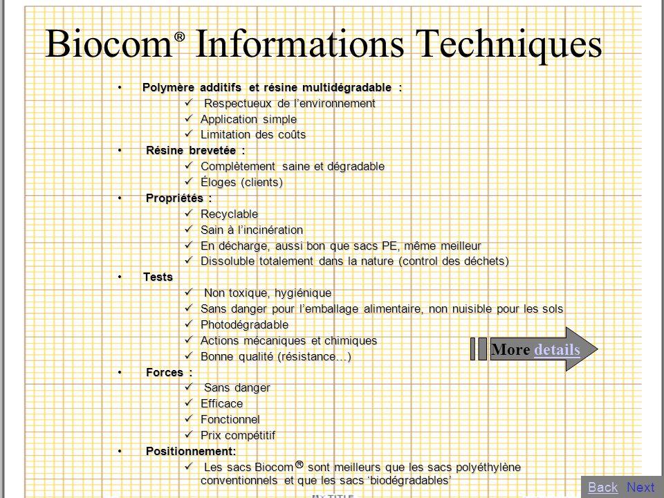 Biocom Informations Techniques