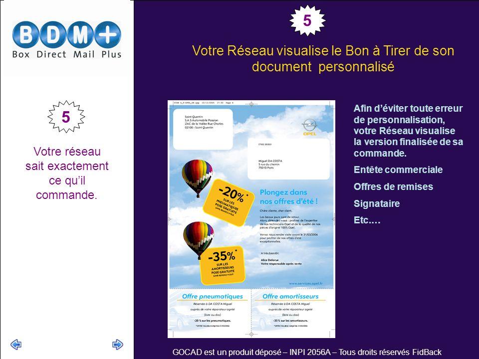 Votre Réseau visualise le Bon à Tirer de son document personnalisé