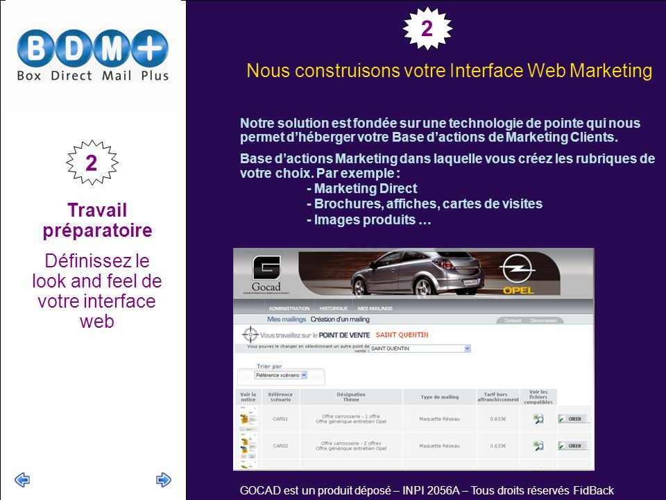2 2 Nous construisons votre Interface Web Marketing