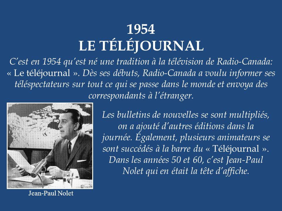 1954 LE TÉLÉJOURNAL.