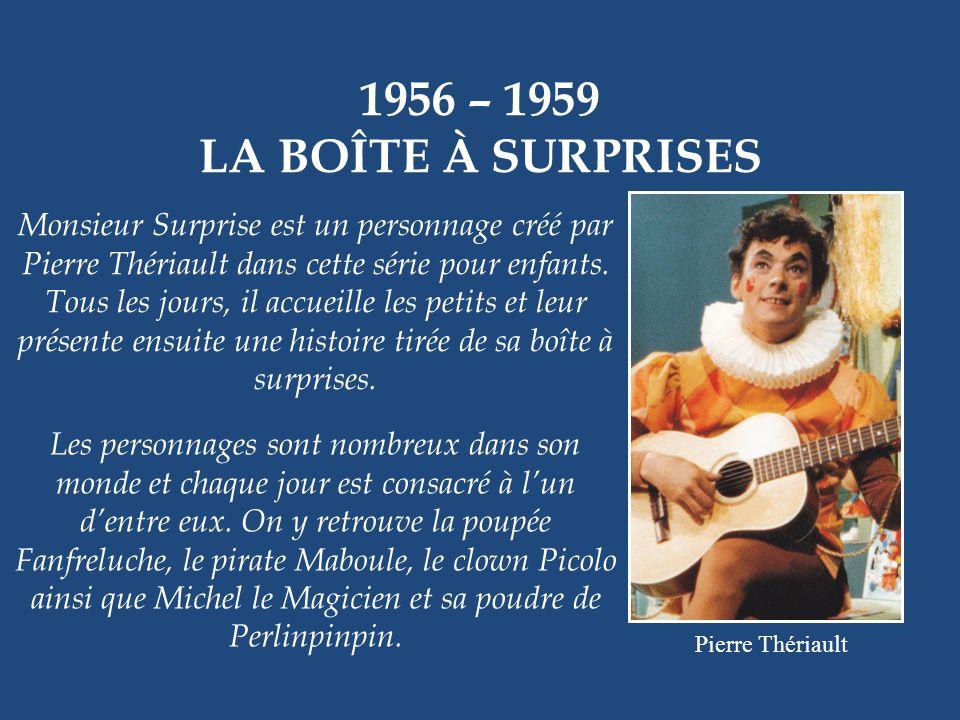 1956 – 1959 LA BOÎTE À SURPRISES.
