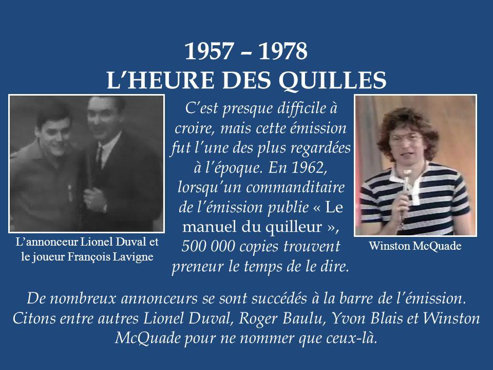 L'annonceur Lionel Duval et le joueur François Lavigne