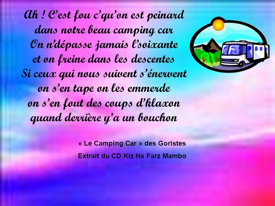 « Le Camping Car » des Goristes Extrait du CD Kiz Ha Farz Mambo