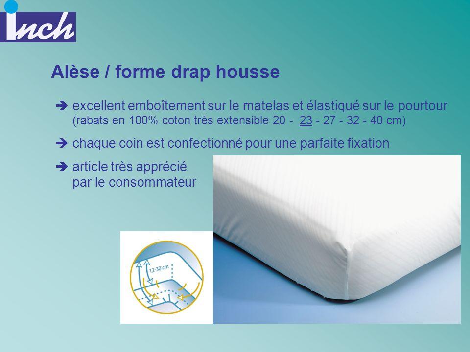 Alèse / forme drap housse