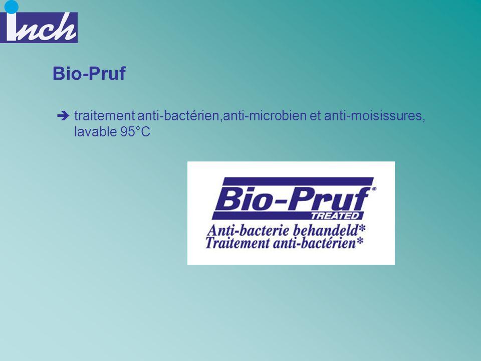 Bio-Pruf traitement anti-bactérien,anti-microbien et anti-moisissures, lavable 95°C