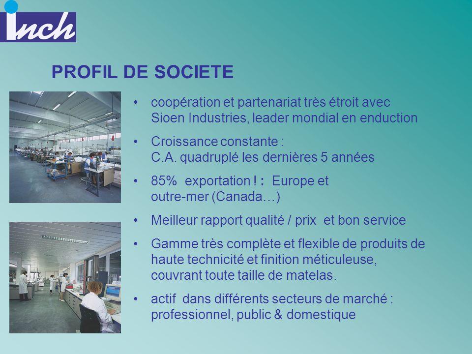 PROFIL DE SOCIETE coopération et partenariat très étroit avec Sioen Industries, leader mondial en enduction.