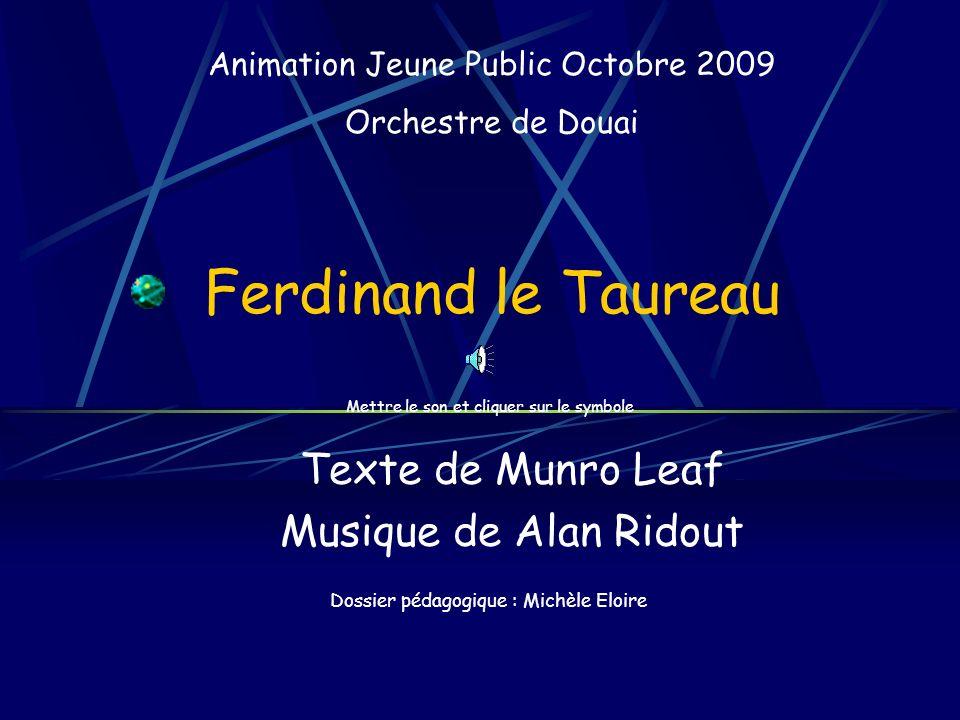 Texte de Munro Leaf Musique de Alan Ridout