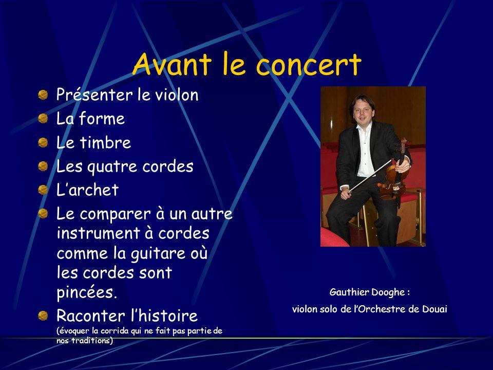 violon solo de l'Orchestre de Douai