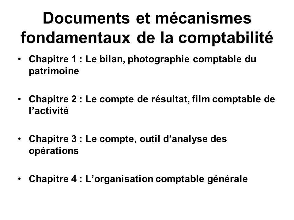 Documents et mécanismes fondamentaux de la comptabilité