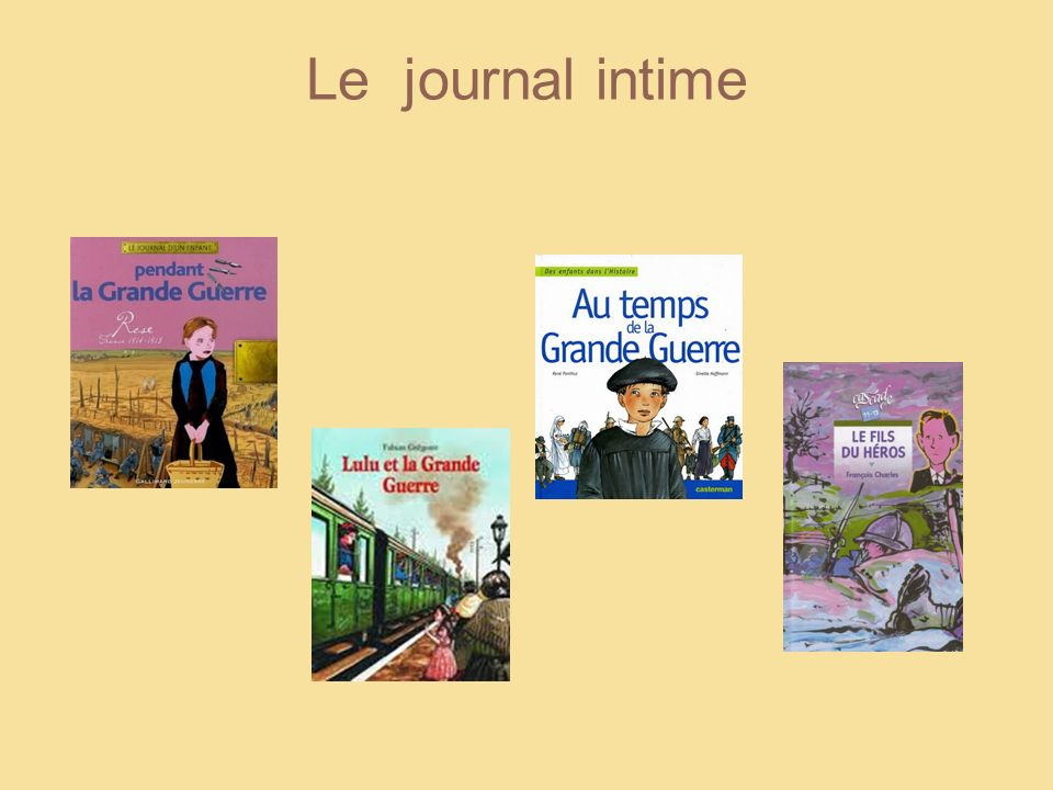 4 Le journal intime