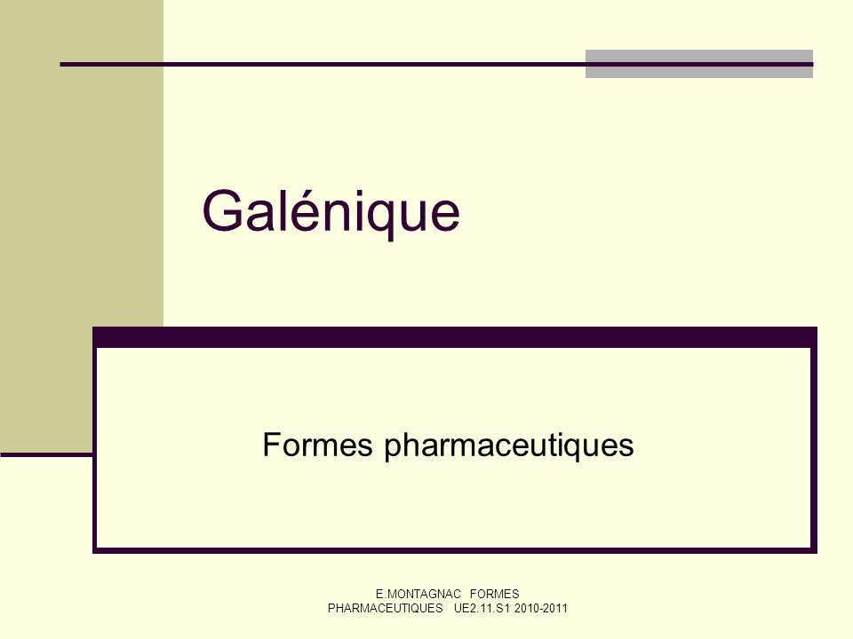Formes pharmaceutiques
