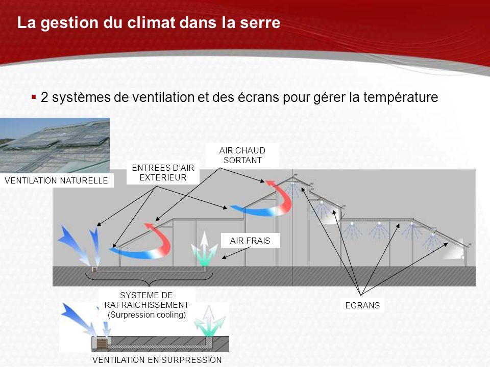 La gestion du climat dans la serre