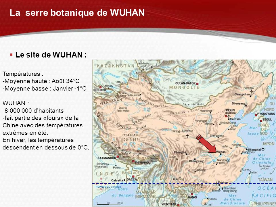 La serre botanique de WUHAN