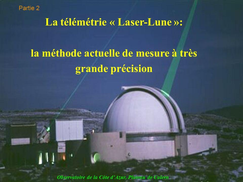 Partie 2 La télémétrie « Laser-Lune »: la méthode actuelle de mesure à très grande précision.