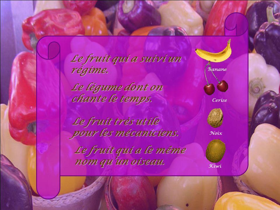 Le fruit qui a suivi un régime.