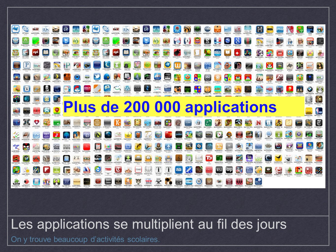Les applications se multiplient au fil des jours