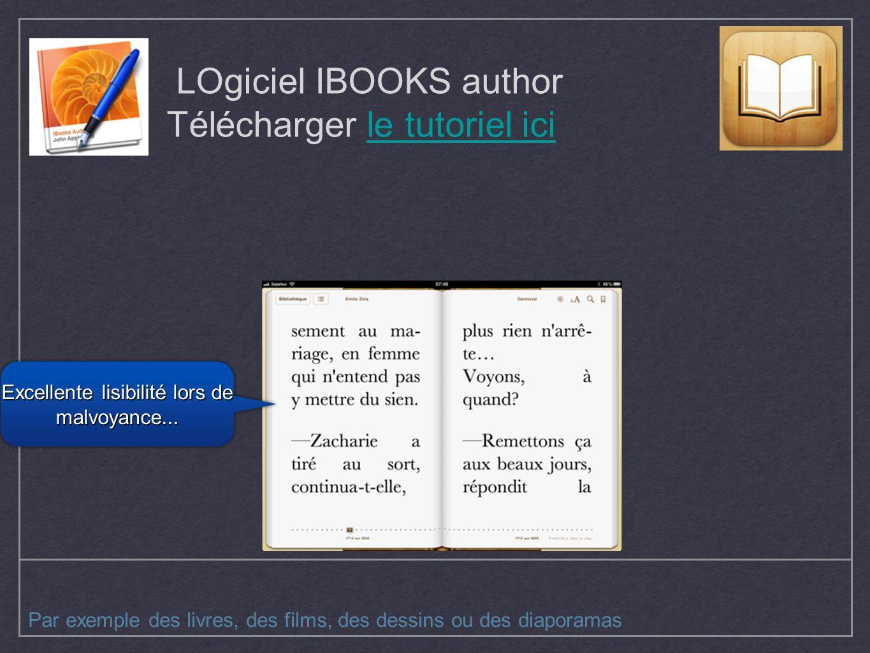 LOgiciel IBOOKS author Télécharger le tutoriel ici