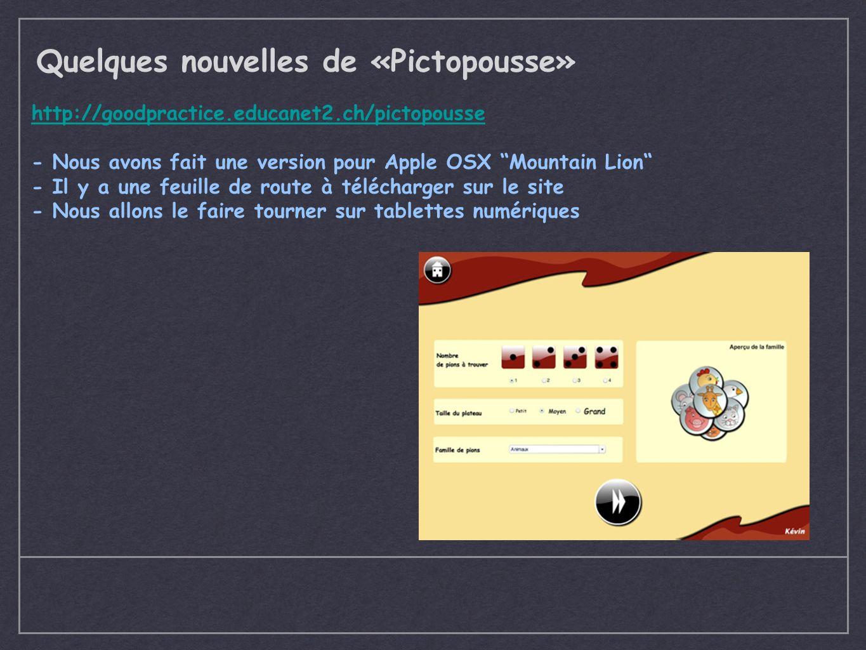 Quelques nouvelles de «Pictopousse»