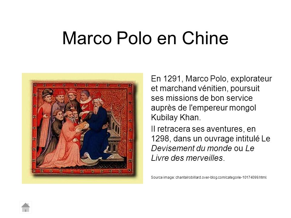 Marco Polo en Chine