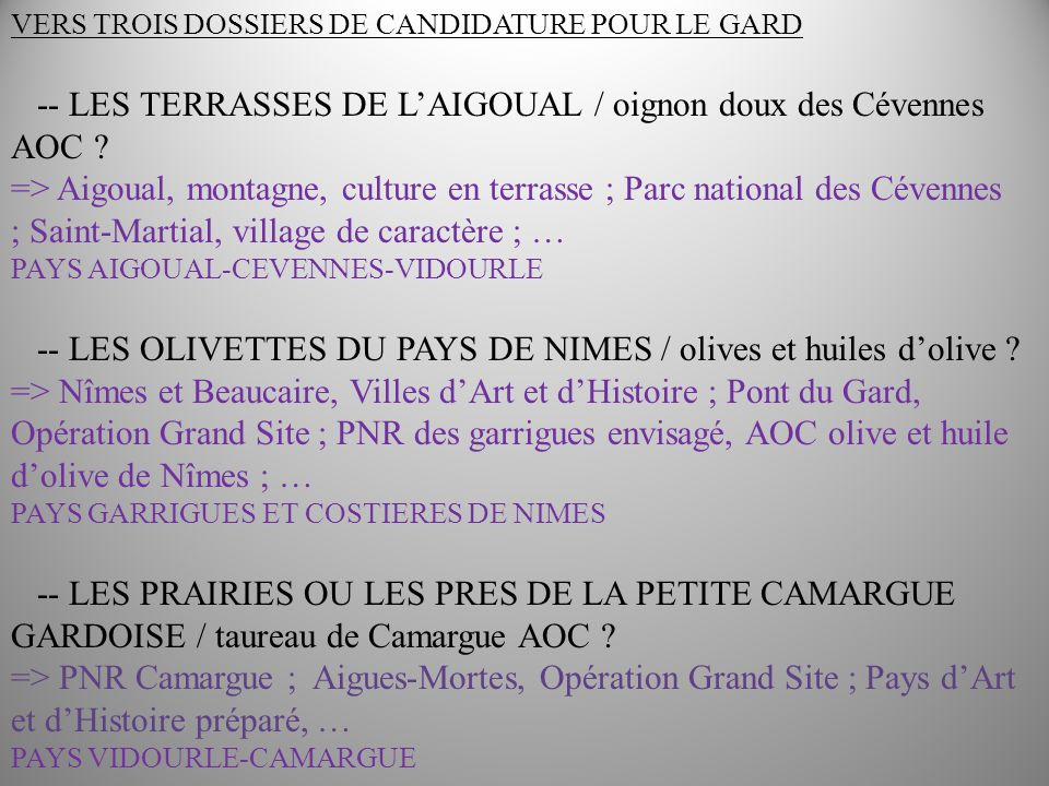 -- LES TERRASSES DE L'AIGOUAL / oignon doux des Cévennes AOC