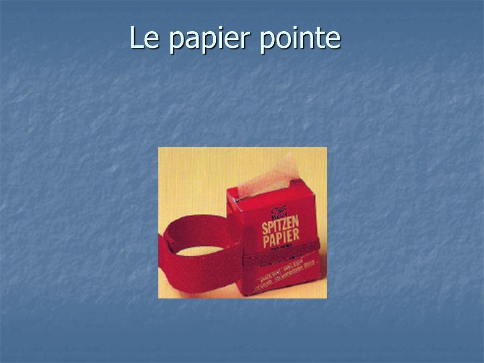 Le papier pointe