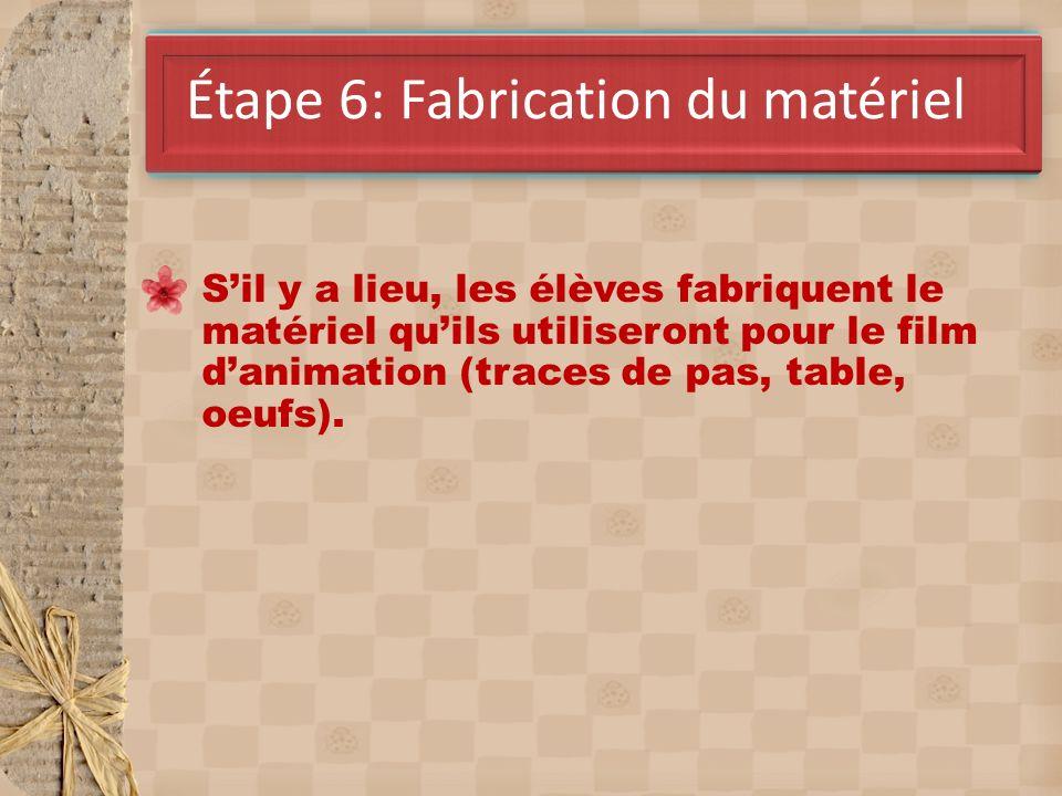 Étape 6: Fabrication du matériel
