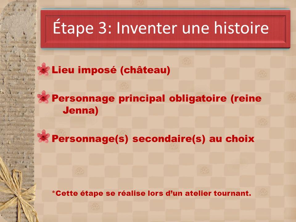 Étape 3: Inventer une histoire
