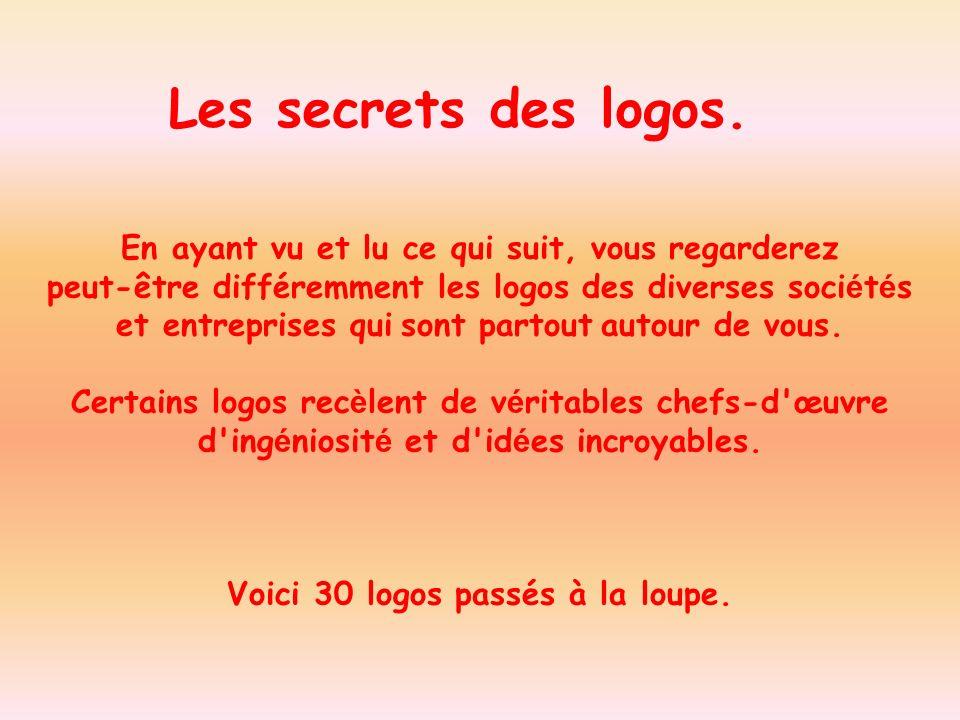 Les secrets des logos. En ayant vu et lu ce qui suit, vous regarderez
