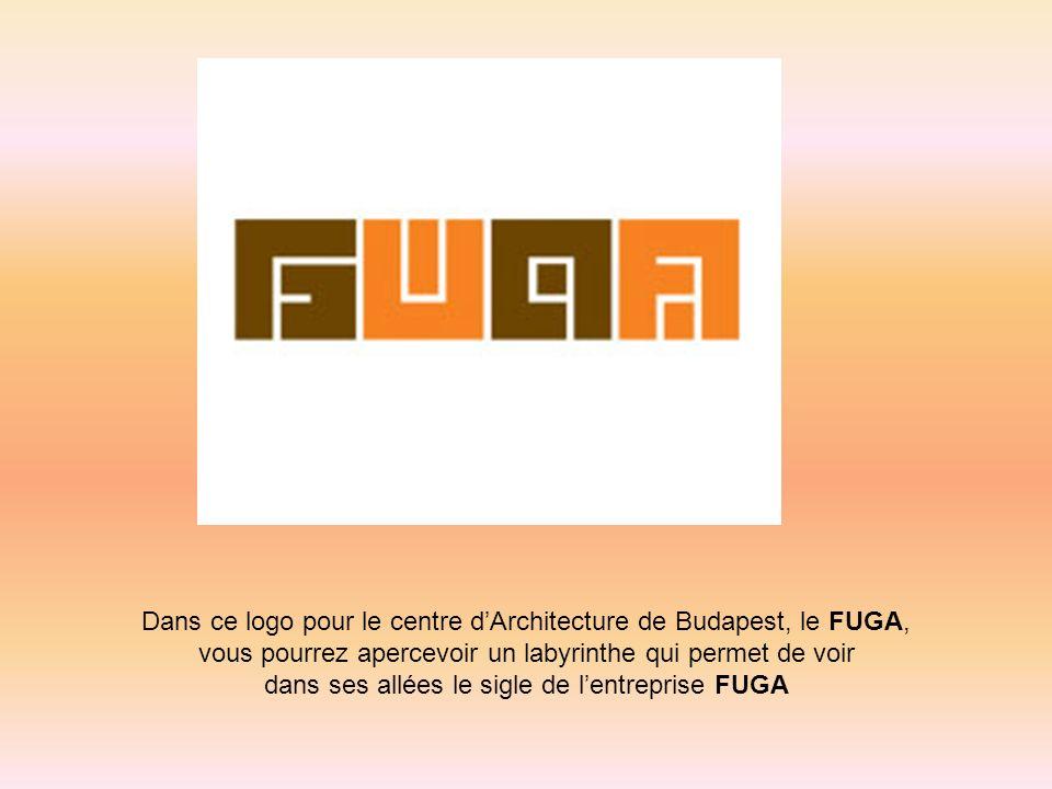 Dans ce logo pour le centre d'Architecture de Budapest, le FUGA,
