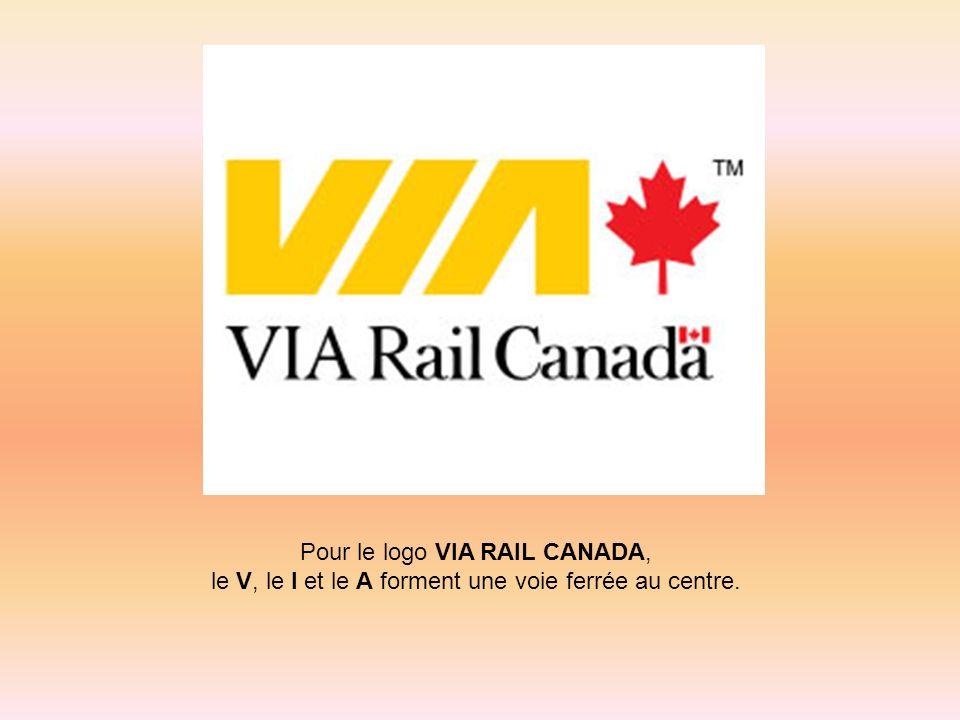 Pour le logo VIA RAIL CANADA,