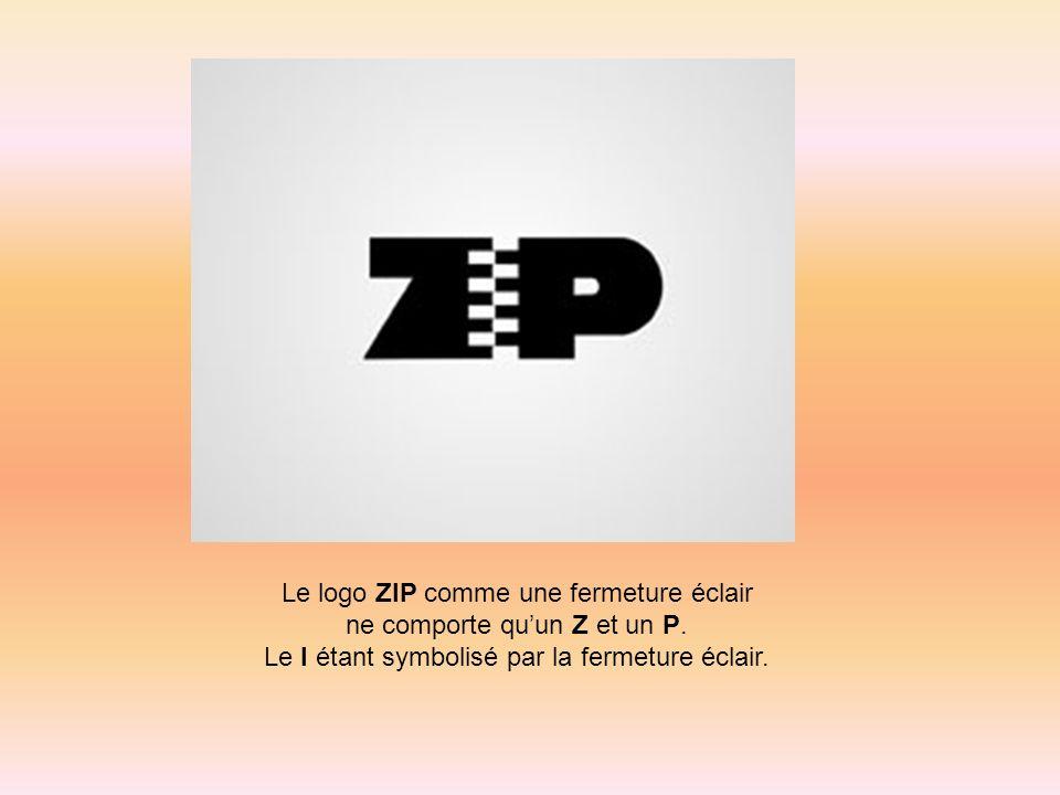 Le logo ZIP comme une fermeture éclair ne comporte qu'un Z et un P.