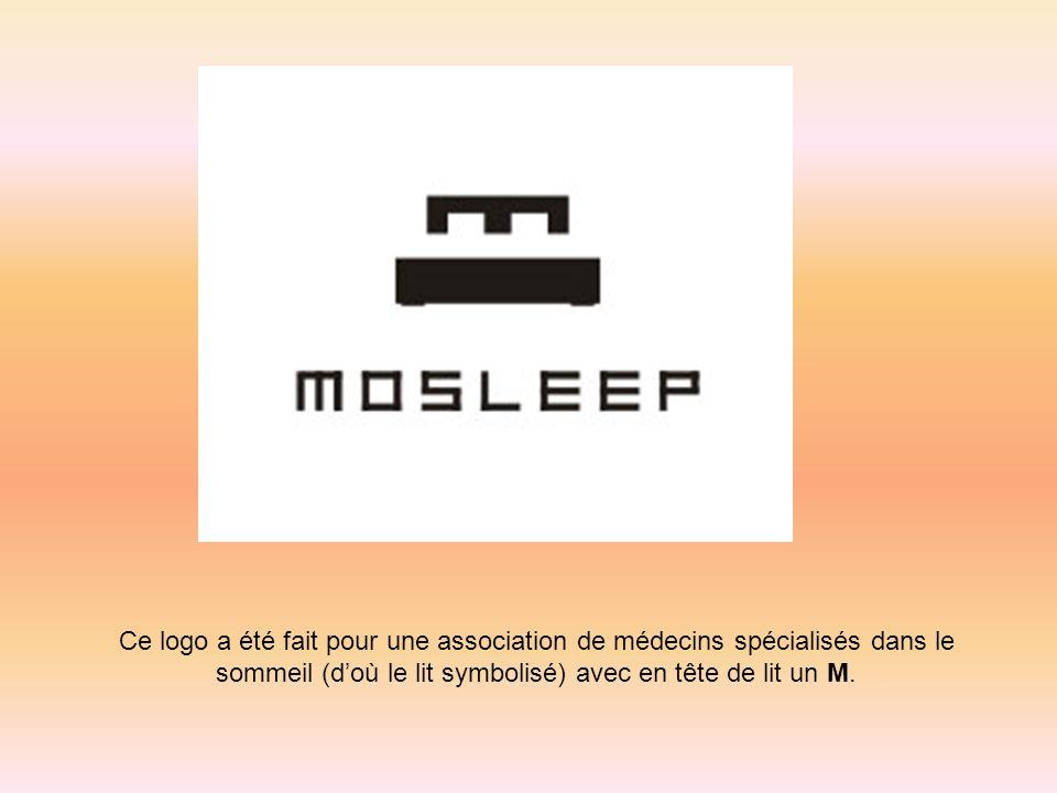 Ce logo a été fait pour une association de médecins spécialisés dans le sommeil (d'où le lit symbolisé) avec en tête de lit un M.
