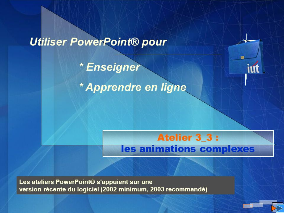 Atelier 3_3 : les animations complexes