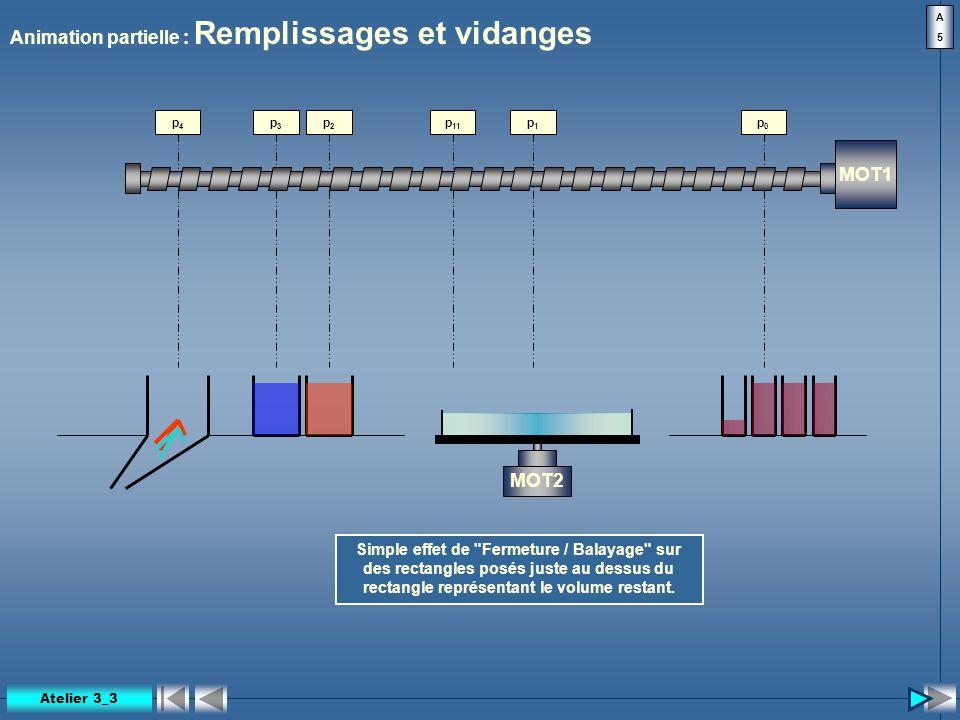 Animation partielle : Remplissages et vidanges