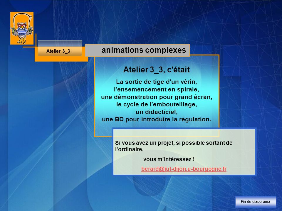 animations complexes Atelier 3_3, c était
