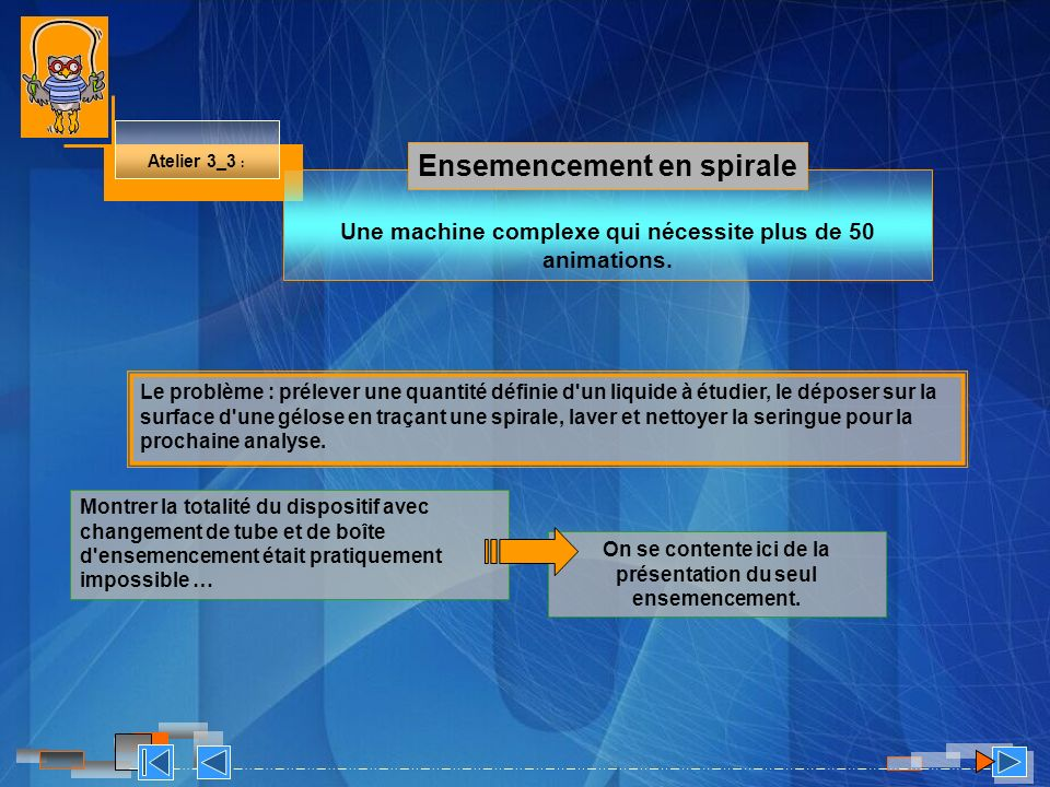 Ensemencement en spirale