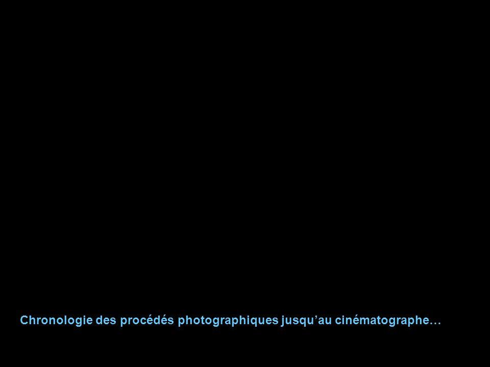 Chronologie des procédés photographiques jusqu'au cinématographe…