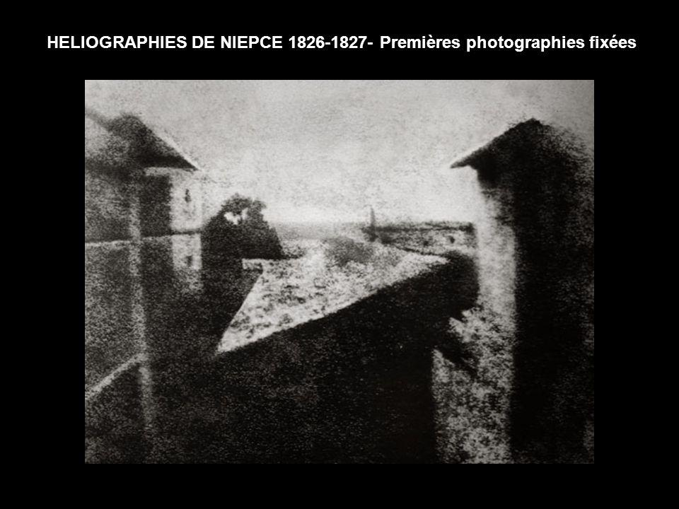 HELIOGRAPHIES DE NIEPCE 1826-1827- Premières photographies fixées