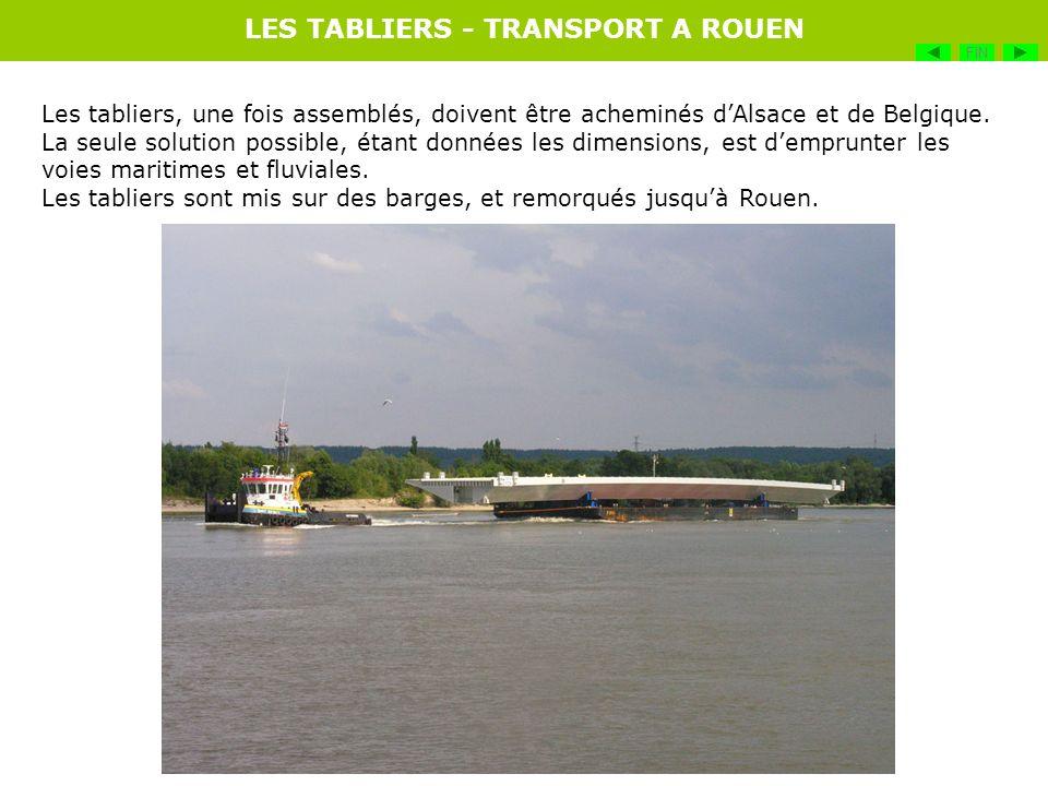 LES TABLIERS - TRANSPORT A ROUEN