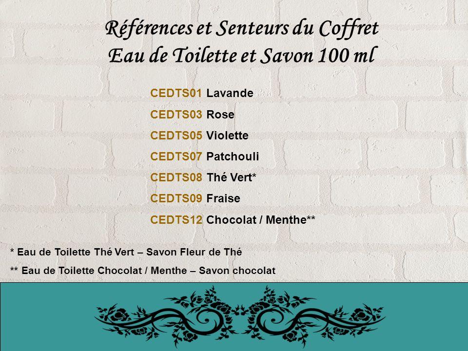 Références et Senteurs du Coffret Eau de Toilette et Savon 100 ml