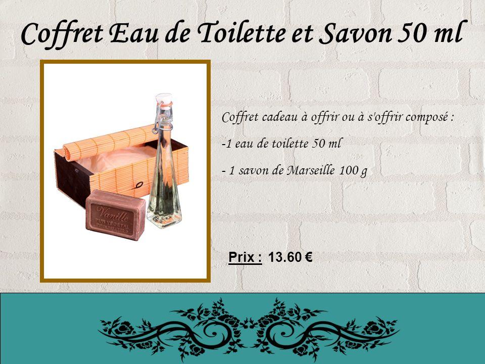 Coffret Eau de Toilette et Savon 50 ml